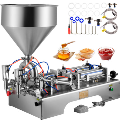 100-1000ml Liquid Filling Machine Pneumatic Paste Oil Viscosity, Double Heads