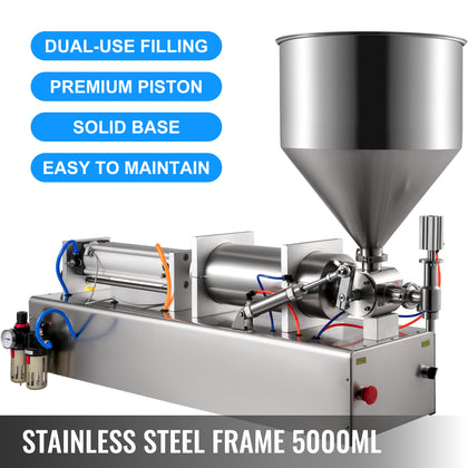 1000-5000ml Liquid Filling Machine Pneumatic Paste Oil Viscosity, Single Head