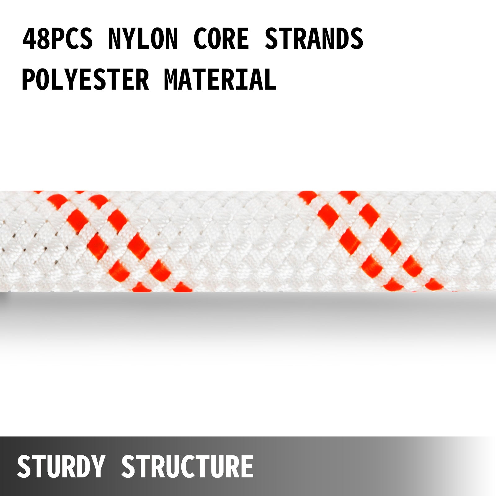 "Polyester Rope Load And Pulling Rope, 5/8"" X 200', 9100lbs Breaking Strength (not Suitable For Rocking Climbing, Mountain Climbing, Hanging People, Etc.)"