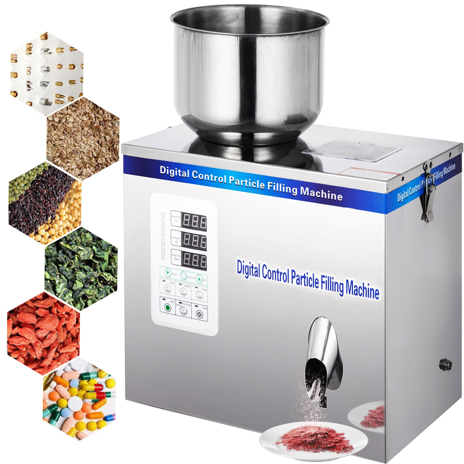 2-20g Particle Powder Subpackage Filling Machine Seed Weighing Bean 110v Us