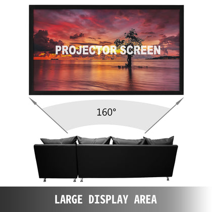 135 Inch Fixed Aluminum Frame Projector Screen Home Theatre Hd Tv Projection 3d