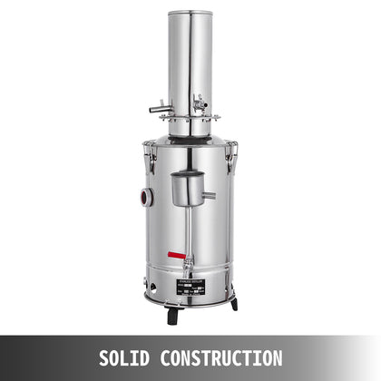5l/h Lab Pure Water Distiller Stainless Steel Easy Instal Electric Moonshine