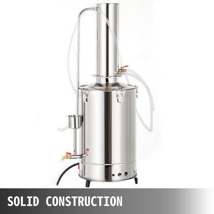 20l/h Lab Pure Water Distiller Stainless Moonshine Easy Install And No Leakage