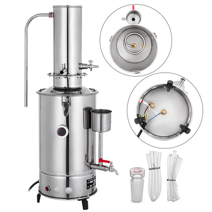 3l/h Lab Pure Water Distiller Electric Stainless Moonshine Still Filter