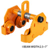 1/2 Ton Push Beam Track Roller Trolley Garage Hoist Adjustable Capacity 1100lbs