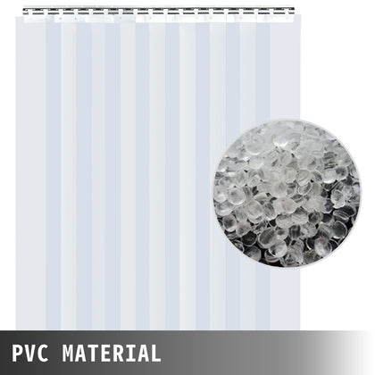 9pcs Pvc Strip Curtain 6.8ftx6in Clear Indoor Eco-frinedly Terrific Value