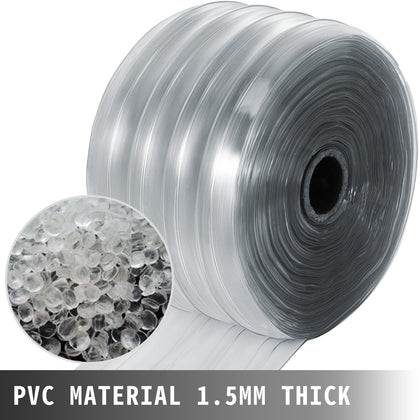 Pvc Strip Curtain Roll 147ftx7.8in Antistatic 0.06in Freezer Door Plastic Strips