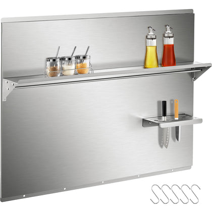 Vevor Range Backsplash With Shelf Stainless Steel Backsplash 36