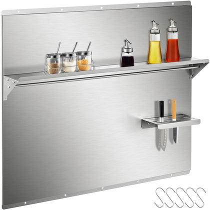 Vevor Range Backsplash With Shelf Stainless Steel Backsplash 30