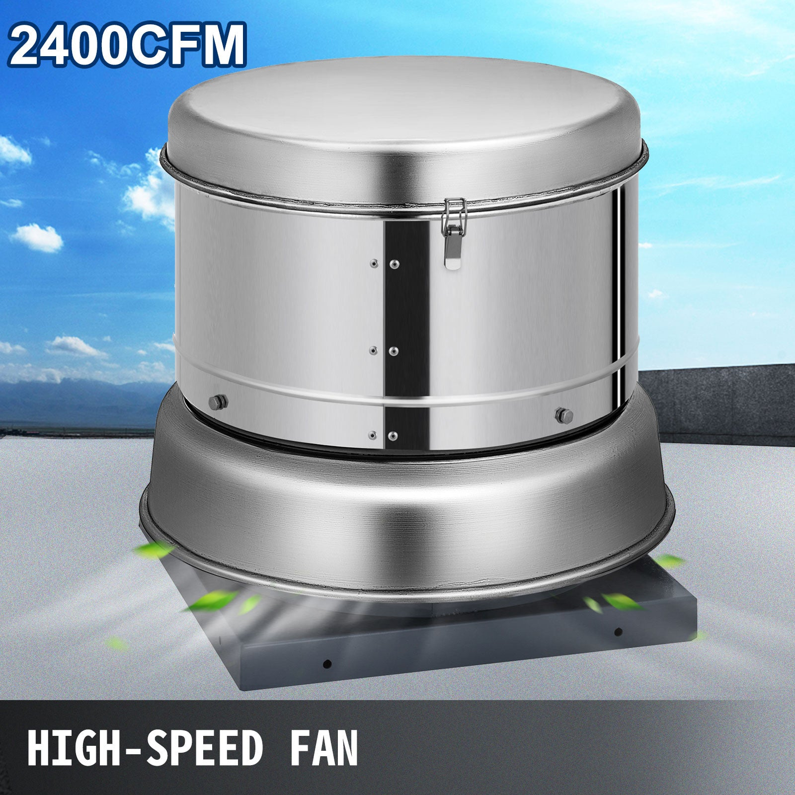 Restaurant Hood Roof Exhaust Fan 2400cfm Commercial 680 Rpm Kitchen 110v