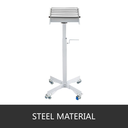 Roller Table Hrt-10 Tools Stand With Adjustable Wedge Lock And Non-skid Casters