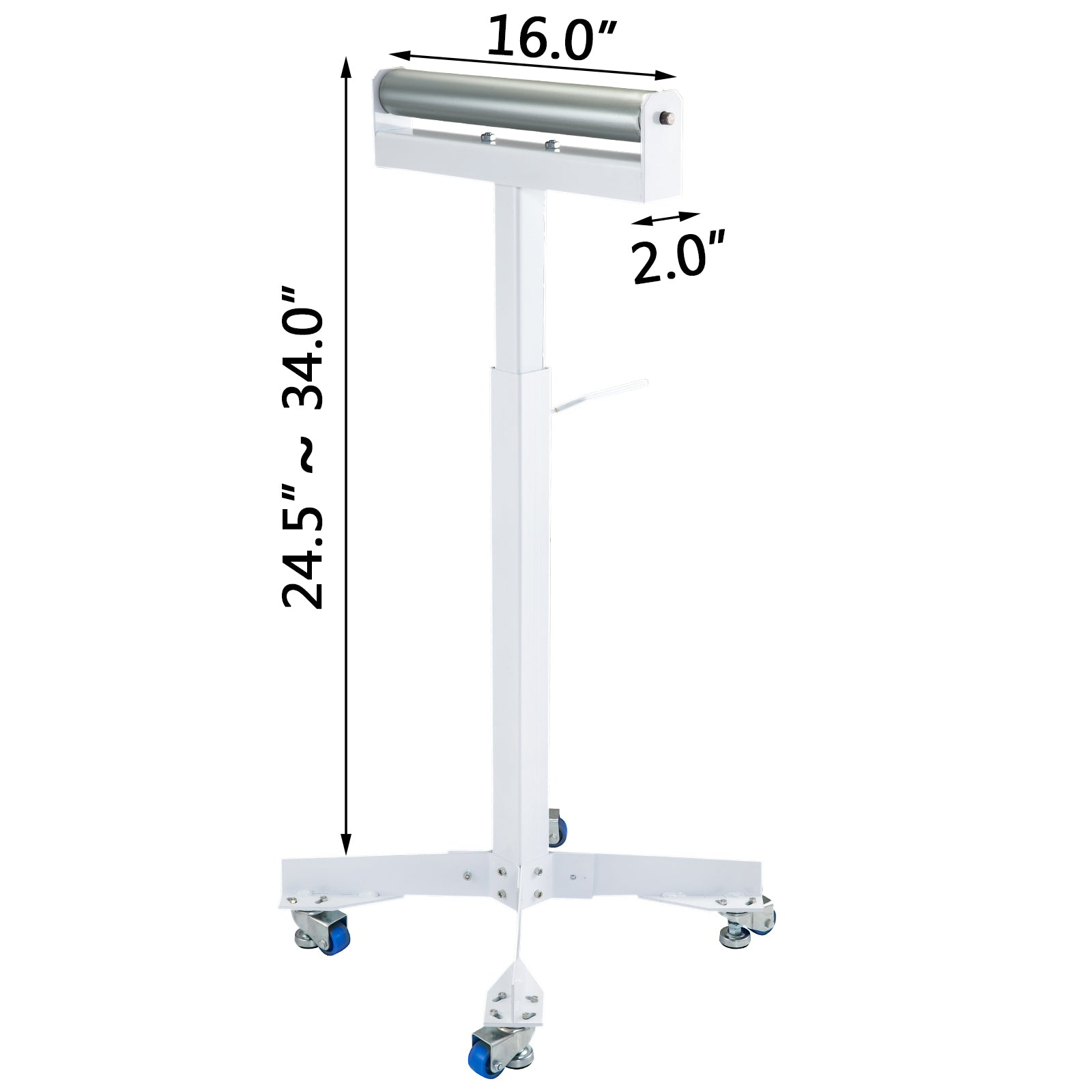 Roller Table Tools Stand Hss-10 With Adjustable Wedge Lock And Non-skid Casters