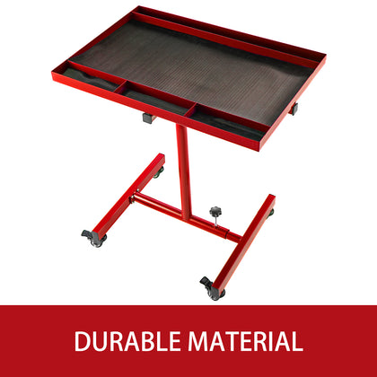 Rolling Tool Table Tear Down Tray 55lbs Adjustable Height For Holding In Green