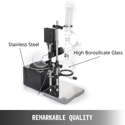 5l Rotavapor Re501 Rotary Evaporator Heating Water Bath Motorized Lift Glassware