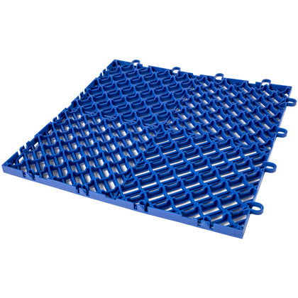 Rubber Tiles Interlocking Garage Floor Tiles 12x12x0.5 Inch 25pcs Deck Tile Blue