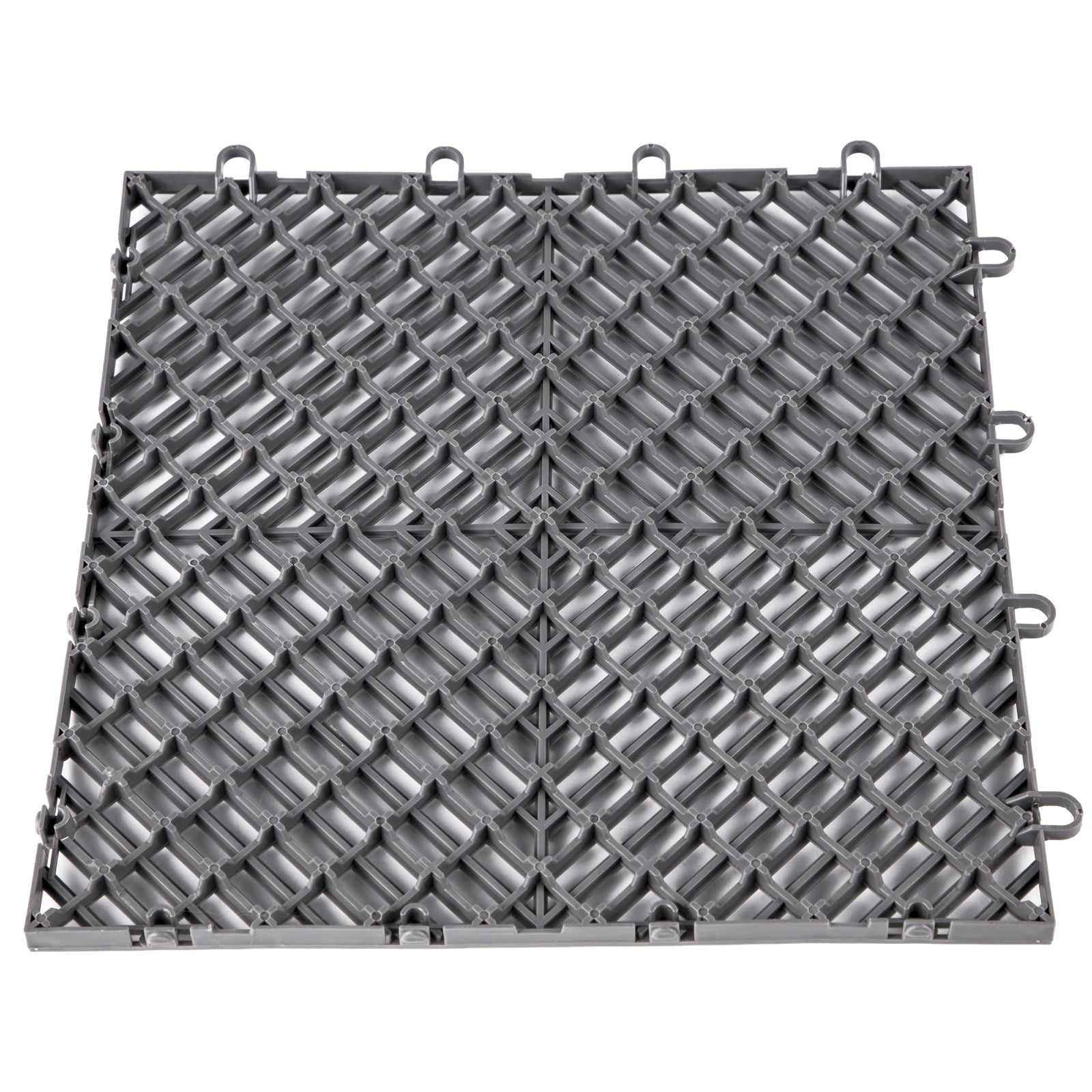 Rubber Tiles Interlocking Garage Floor Tiles 12x12x0.5 Inch 55pcs Deck Tile Gray