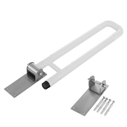 Safety Toilet Grab Bar Handicap Bathroom Disability White Flip-up Hand Grips