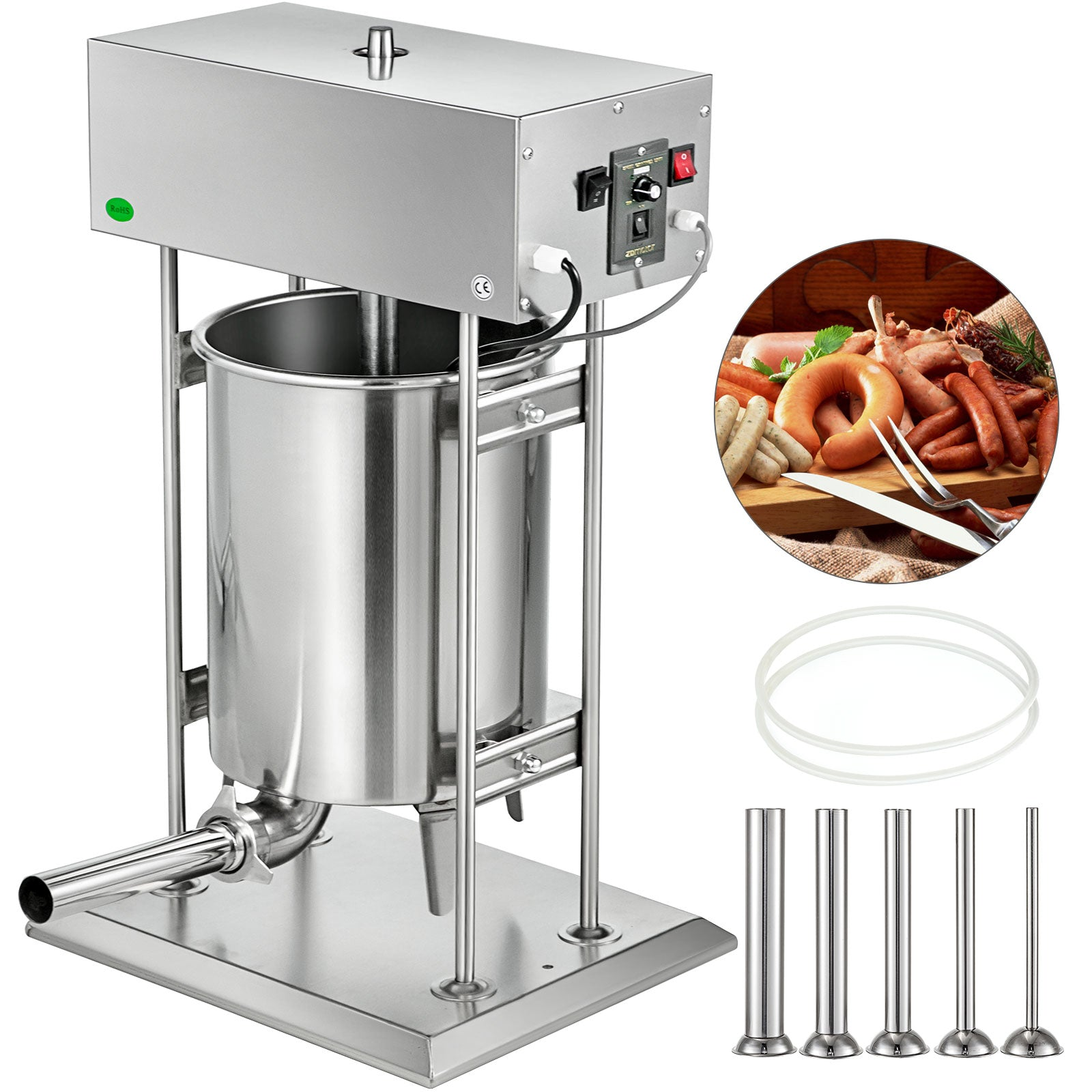 Electric Sausage Maker Sausage Stuffer 25l Meat Filler Machine Stainless Steel