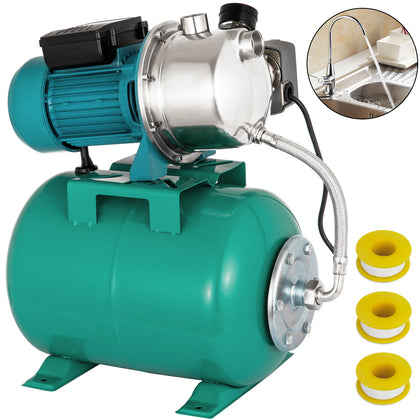 1 Hp Shallow Well Jet Pump W/ Pressure Switch 12.3 Gpm Booster Water 2800l/h