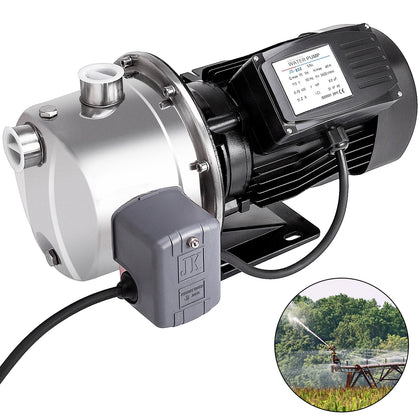 1.0hp 18.5gph Shallow Well Jet Pump W/pressure Switch 45m 0.75kw Agricultural