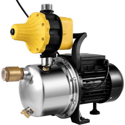 Pressure Booster Pump 1/2hp Stainless Steel Shallow Water Self-priming Jet Pump