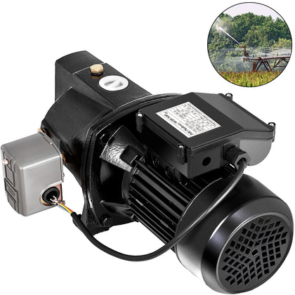 Shallow Well Jet Pump W/pressure Switch 1hp 17.6gpm, Hmax 216.5 Ft, 115v