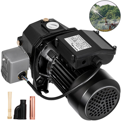 1 Hp Shallow Or Deep Well Jet Pump W/ Pressure Switch Irrigate 3420rpm 16.7 Gpm