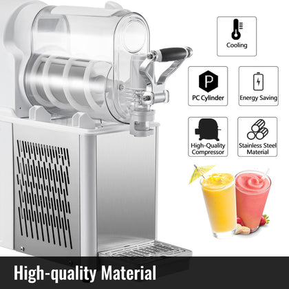 Commercial Frozen Drink Machine Slushie And Margarita Maker 0.79 Gal Pc Tank
