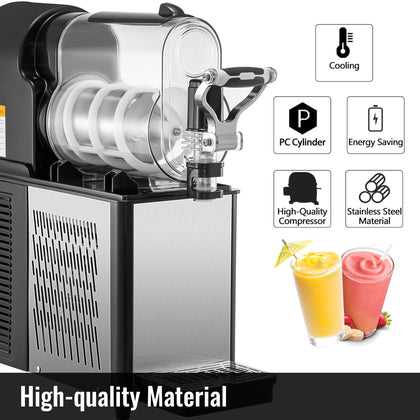 Commercial Frozen Drink Machine Slushie And Margarita Maker 0.79 Gal Pc Tanks