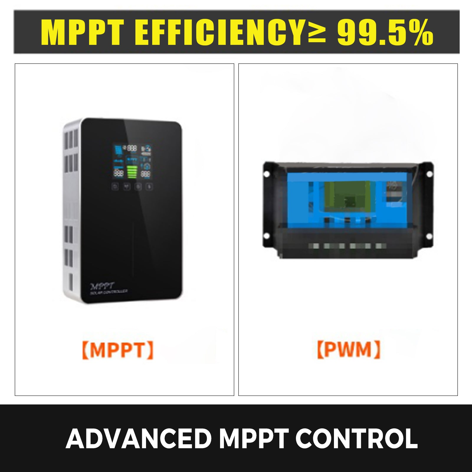 Solar Charge Controller Mppt 50a Lcd Display Touch Screen Multiple Protection