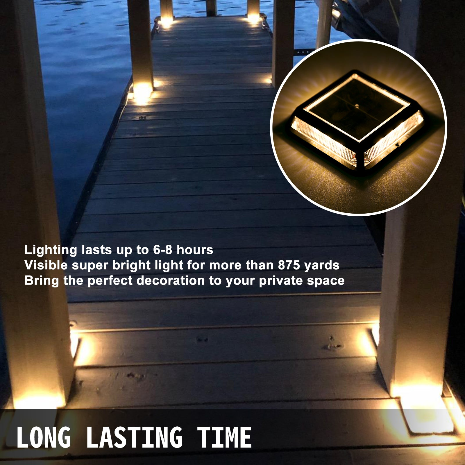 Solar Deck Lights Driveway Lights 12 Pcs Solar Driveway Lights Deck Solar Lights