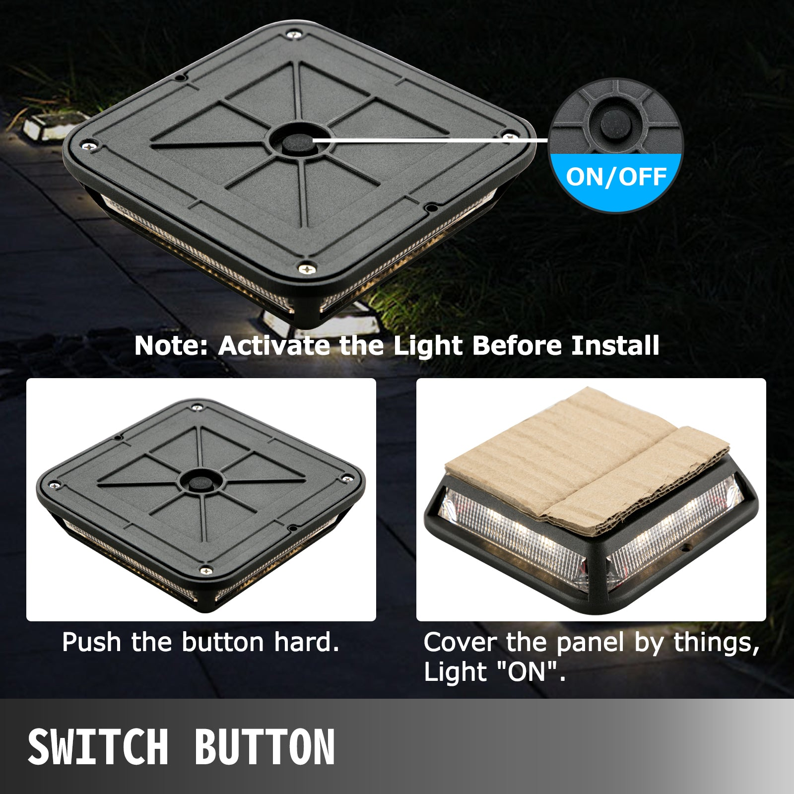Solar Deck Lights Driveway Lights Pathway Step Lights, 24pcs Dock Solar Lights