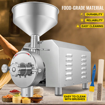 Vevor Grain Grind Mill Grain Grinding Machine 3000w Food Processing Machinery