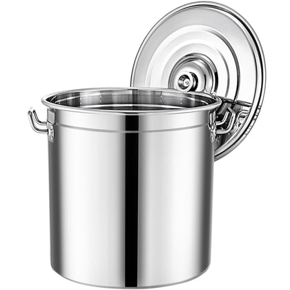 74qt Stainless Steel Stock Pot Brewing Beer Kettle Restaurant Stockpot Sauce