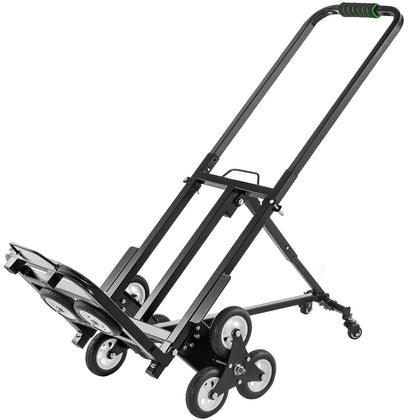 Heavy Duty Stair Climbing Cart Folding 330lb Capacity Hand Truck Dolly W/ Wheels