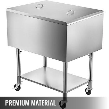 36x21 Stainless Steel Underbar Ice Bin Storage Bottle Holders 20ga Cocktail Unit