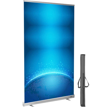 Vevor Floor Standing Sneeze Guard Roll Up Banner Stand 48