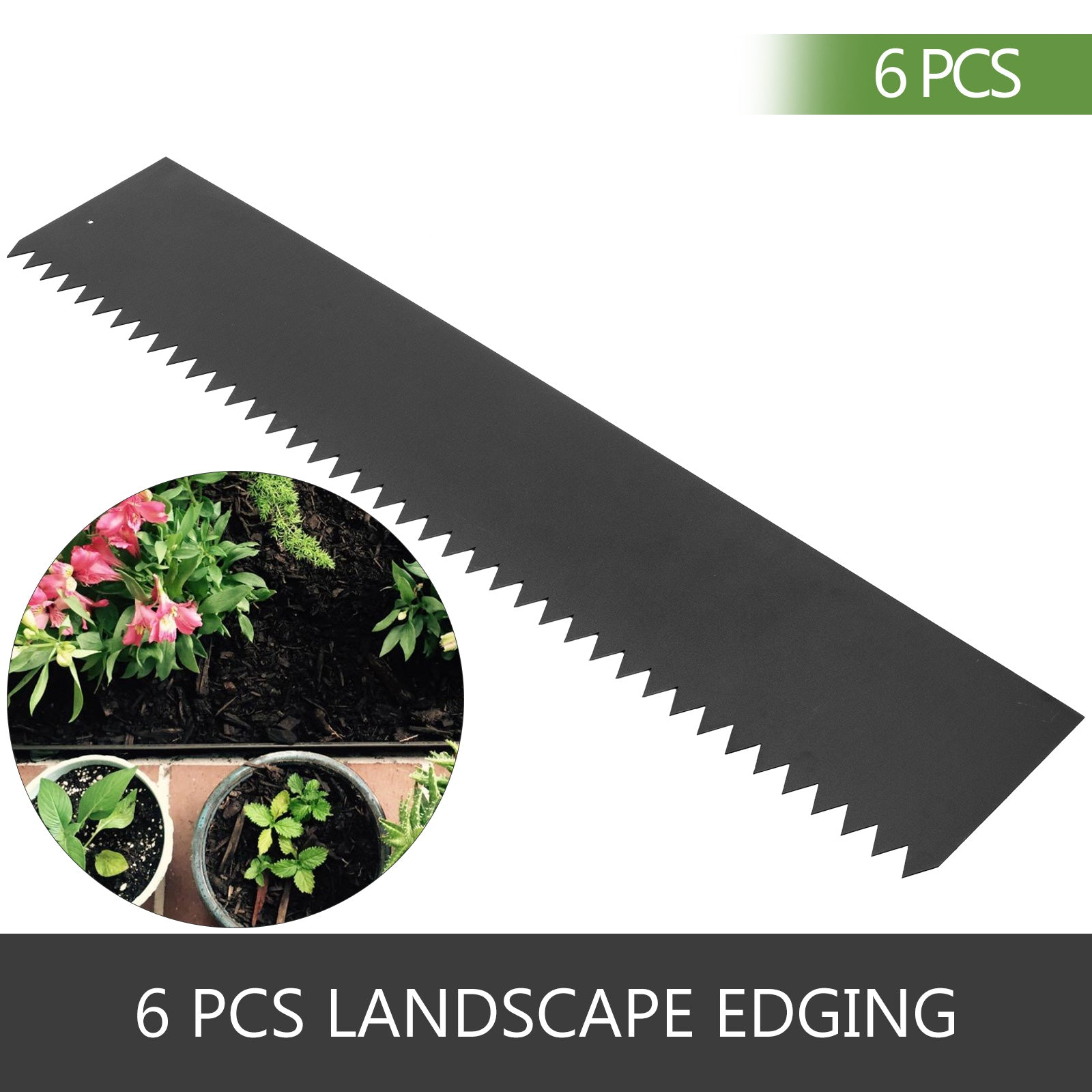 6pcs Steel Landscape Edging Steel Edging Landscaping 40 X 6 Inch Lawn Edging