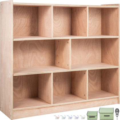 Classroom Storage Cabinet Preschool Storage Shelves Wooden 8 Grids Toys Books