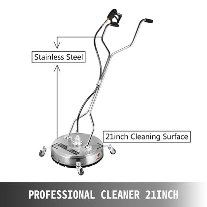 Flat Surface Cleaner 21 Inch 4000 Psi Pressure Washer Stainless Steel 3 Nozzles