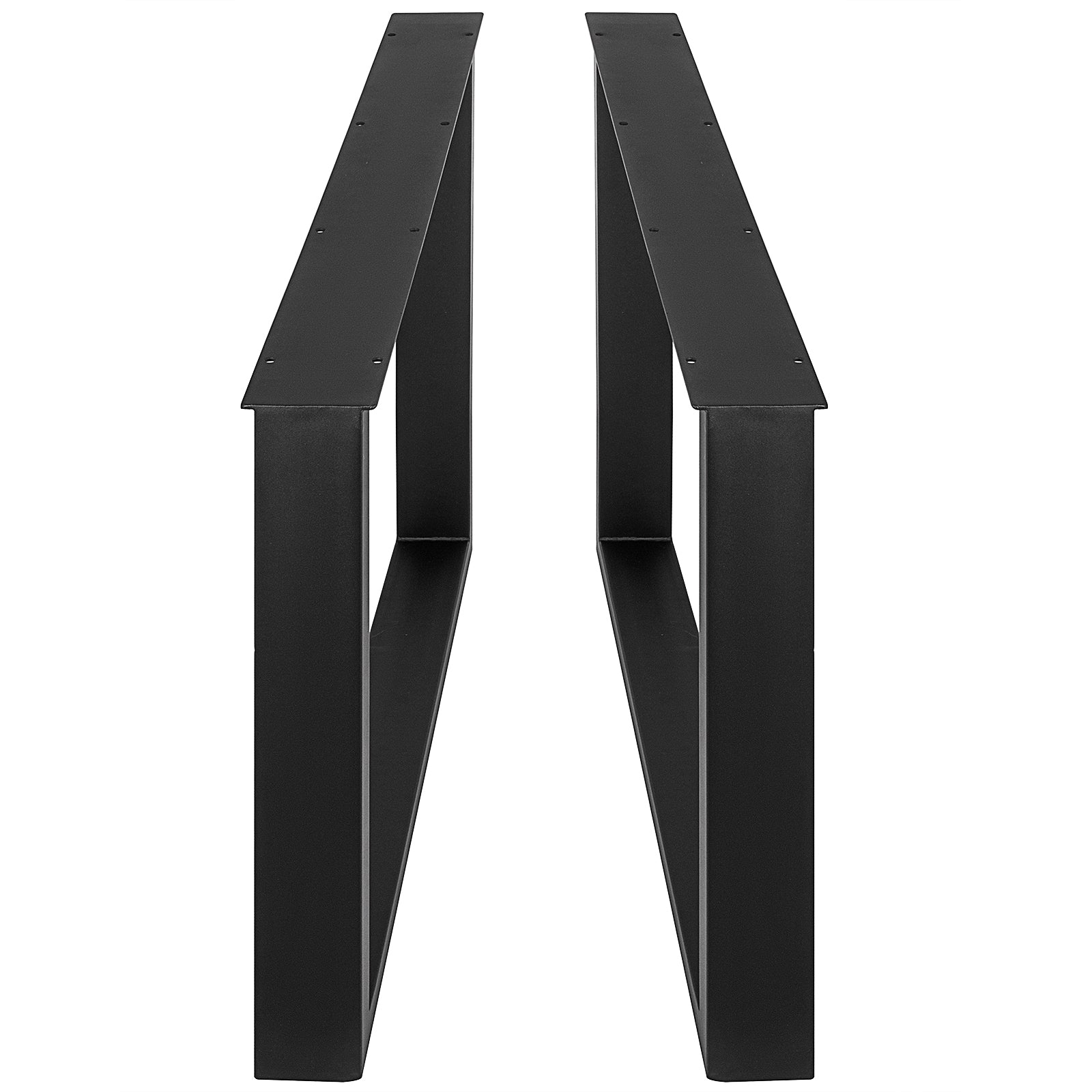 "23.6""x28.4""a Pair Table Leg square Black Steel Bar Industrial Computer Desk Legs"
