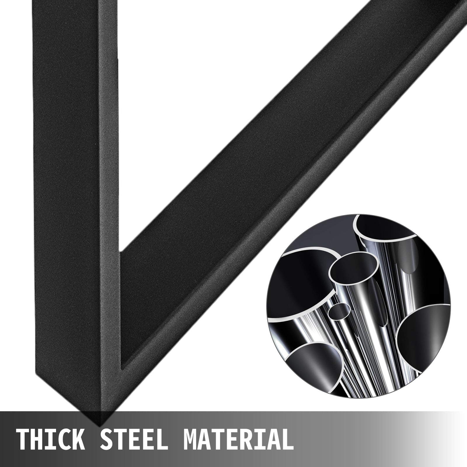 25.1''l Black U Metal Steel Legs For Coffee Table Desk Sofa Cabinet 2pc Heavy