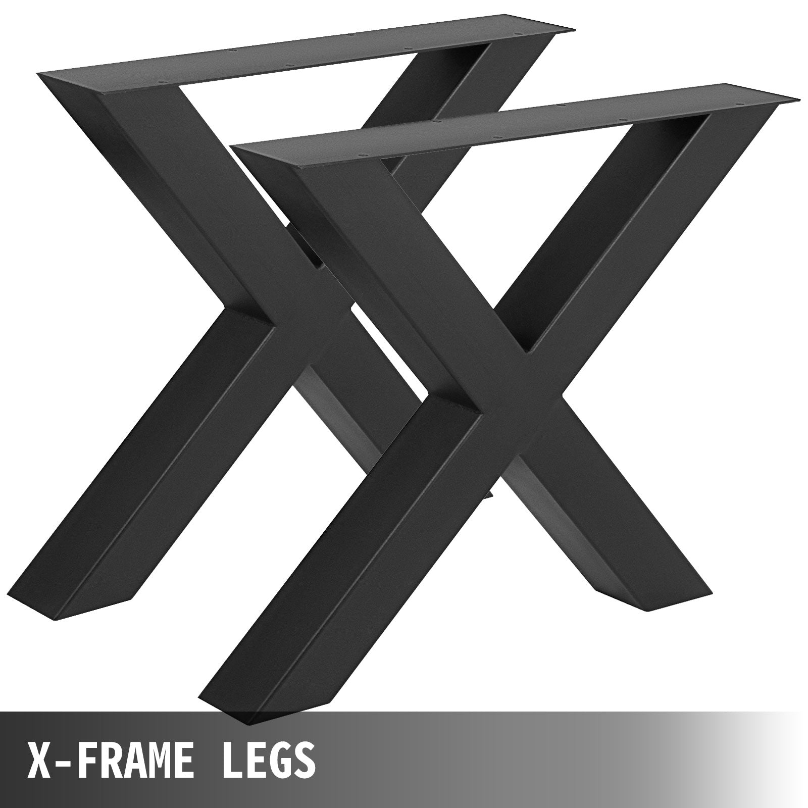 "Steel Metal Table Legs 31.1""l X-shape For Dining Table Desk 2pc Heavy Duty"