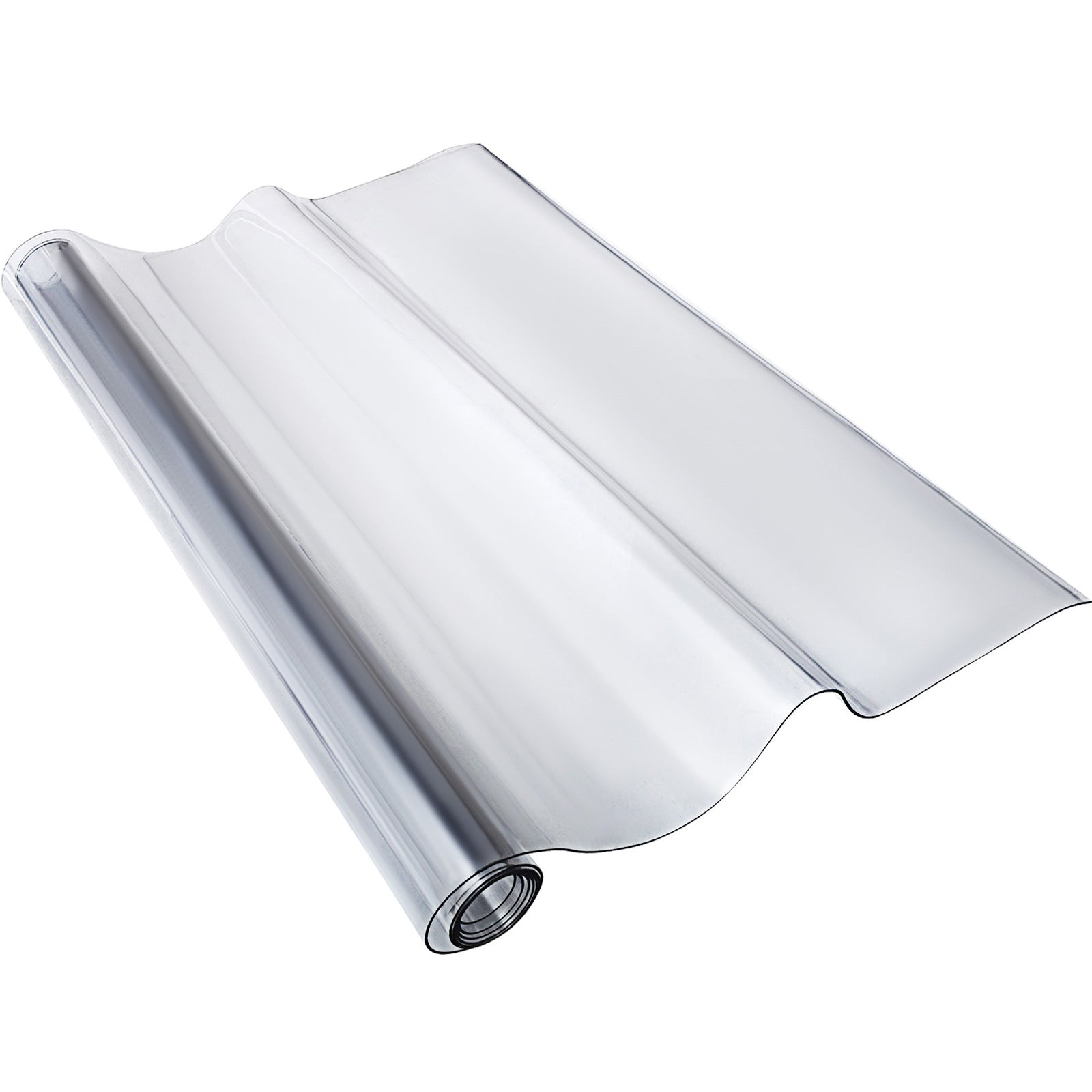 "42"" X 84"" Waterproof Clear Pvc Fitted Plastic Protector Tablecloth Desk"
