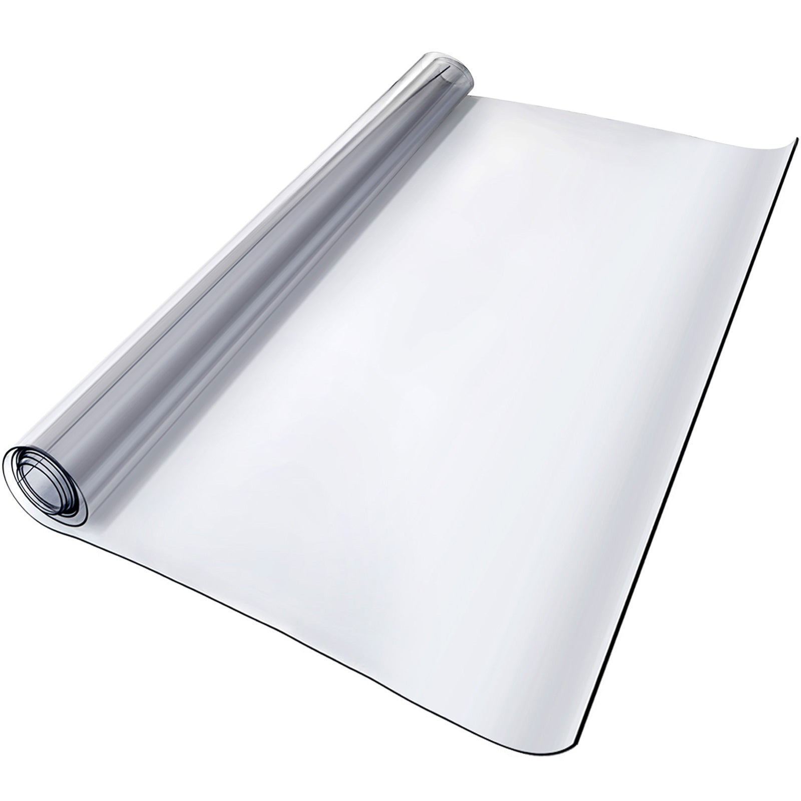 "Pvc Tablecloth Protector Table Cover 46"" X 96"" Desk Pad Soft Glass Desk Top"