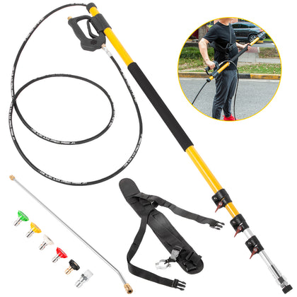 Vevor Pressure Washer Wand Telescoping 18ft 4000psi W/ Belt 3/8