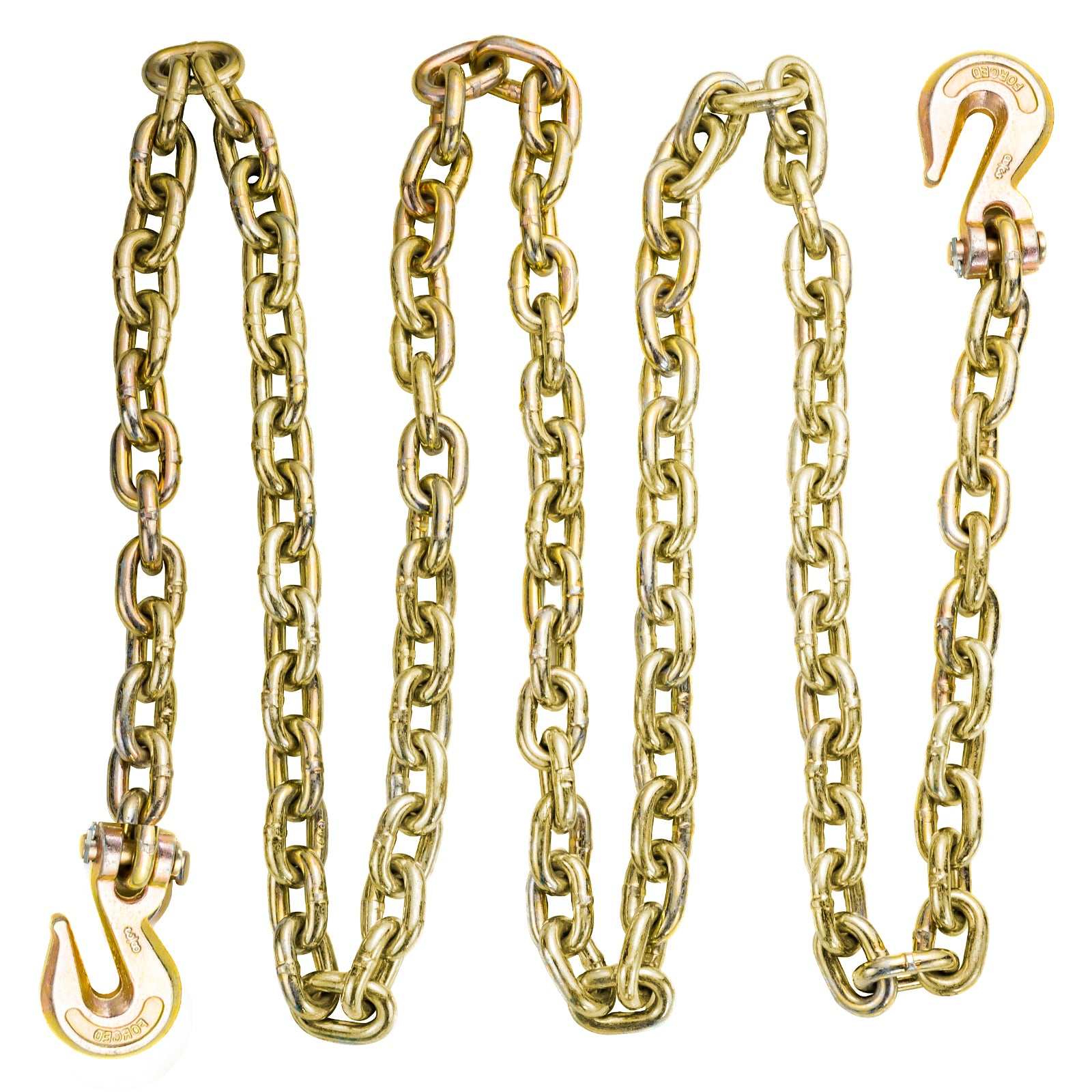 "Tow Chain Tie Down Binder Chain Flatbed With G70 Hooks 3/8"" 10.5ft"