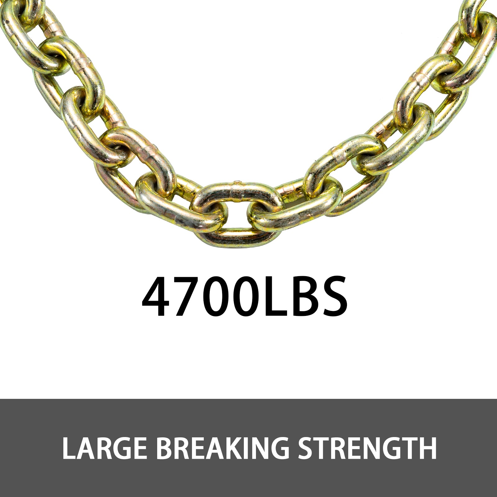 "Tow Chain Grade 70 Chain 5/16""x21' With Safety Grab Hooksfor Logging 1 Pair"