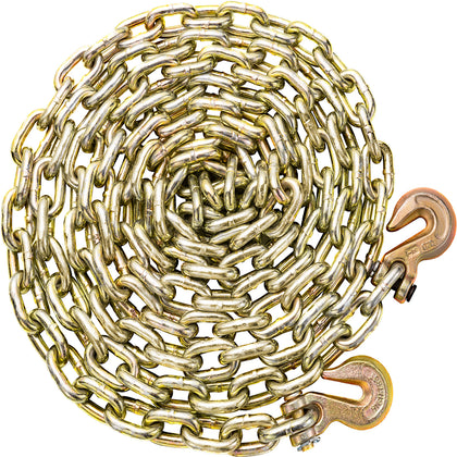 Tow Chain Tie Down Binder Flat With Grade 70 Hooks 1/2