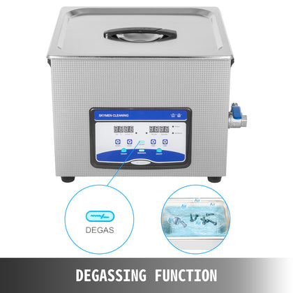 Ultrasonic Cleaner Ultrasonic Machine 15l 240/480w Degas Digital Sonic Cleaner